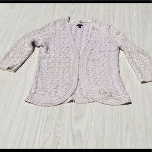 Dana Buchman eggshell (off white) sweater Sz M